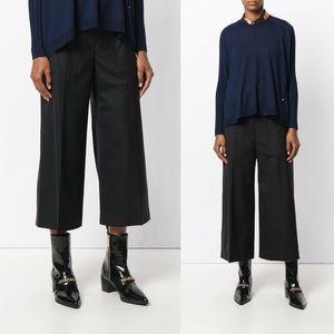 Kenzo Tailored Culottes Wide Leg Pant Black 26